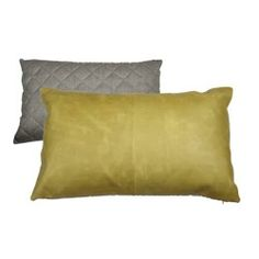 Leather pillow by Oly Studio.