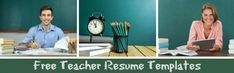 Excellent free teacher resume templates that enhance your professional image and help you land the teaching job you want. Select the right resume for your teacher job application. College Resume Template, Resume Design Template, Cv Template, Resume Templates, Teacher Interviews, Good Resume Examples, Jobs For Teachers, Teaching Jobs, Resume Format