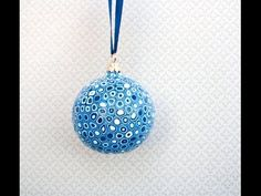 ▶Covered Christmas ornament-  can also be used as a pendant @ Pleta Fimo Ru YouTube