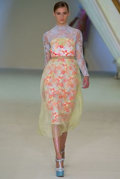 Erdem SS13:designer Erdem Moralioğlu. Color and print. There's an element of this that I like...