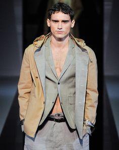 "Emporio Armani ""The hooded khaki cotton parka on Arthur.""—Ted Stafford, GQ European market editor"