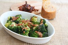 Low Carb Roasted Broccoli with Bacon Sun-Dried Tomato Vinaigrette | All Day I Dream About Food