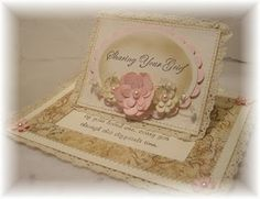Pretty flower pop-up slider card