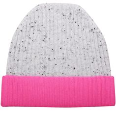 3f1fea19d98 Speckled Grey   Pink Cashmere Beanie by Orwell + Austen Cashmere