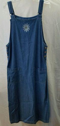 Prestige Global Women's Blue Denim Dress Jumper Size M  #PrestigeGlobal #Maxi
