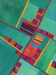 Village on Green Fields map art quilt by Alicia Merrett Map Quilt, Children's Quilts, Quilt Art, Art Cart, Textile Fiber Art, Landscape Quilts, Green Fields, Patchwork Designs, Map Art