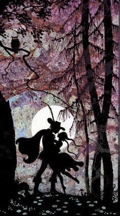 Jan Pienkowski from the Fairy Tales. Silhouette artwork is so versatile.