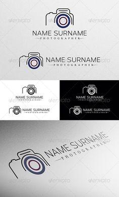 Photographer Logo - Objects Logo Templates Logo Foto, Photo Logo, Business Logo Design, Business Card Logo, Logo Design Template, Logo Templates, Camera Logo, Photographer Logo, Bussiness Card