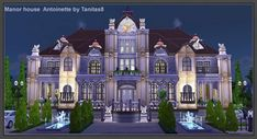 Tanitas Sims: Manor house Antoinette • Sims 4 Downloads