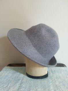 Ladies Vintage Felted Wool Hat Cloche Trilby by thejadedorris