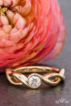 Twist Wrap Style Engagement Ring. Green Lake Jewelry 114788