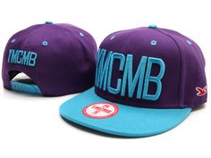 YMCMB Snapback Hats Caps Aqua Blue Purple 1850|only US$8.90,please follow me to pick up couopons.