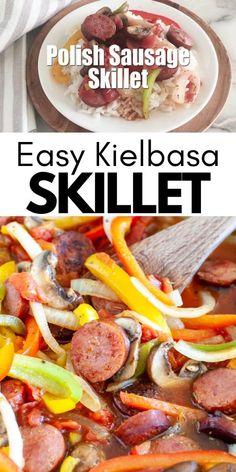 Polish Sausage Recipes, Sausage Crockpot Recipes, Sausage Recipes For Dinner, Pork Recipes, Cooking Recipes, Healthy Recipes, Turkey Kielbasa Recipes, Kielbasa Sausage, Bon Appetit