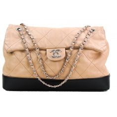 b2adb6bc63a Chanel Tan and Black Quilted Leather Bottom Classic Shoulder Bag. Mosh Posh  Designer Consigner
