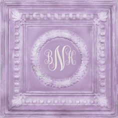 personalized hand painted 24x24 lavender metal by AveQcollection