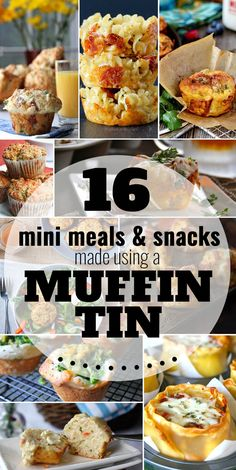 Move over, muffins and cupcakes! Your muffin tin can make more than sweet treats – they are perfect for making single-serving meals and snacks. From loaded bacon and egg hash brown muffins to lasagna cups, pizza mac 'n cheese muffins, and more. Appetizer Recipes, Snack Recipes, Cooking Recipes, Appetizers, Cooking Eggs, Party Recipes, Egg Recipes, Mini Muffin Pan, Muffin Tins