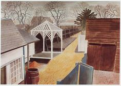 Garden Path, Great Bardfield by Eric Ravilious, 1934