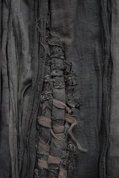 Fabric Manipulation - woven textiles design with distressed fabrics & disheveled textures; sewing; mending // Manon Gignoux