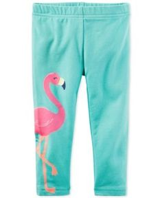 Carter's Flamingo Capri-Length Leggings, Toddler Girls (2T-4) - Blue