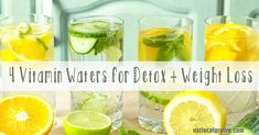 4 Homemade Vitamin Waters for Detox   Weight Loss <3 via @eatlocalgrown