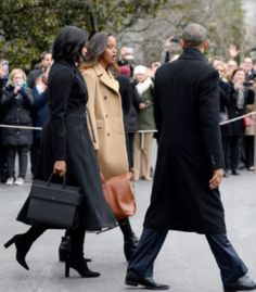 President Obama, First Lady Michelle and daughter Malia.