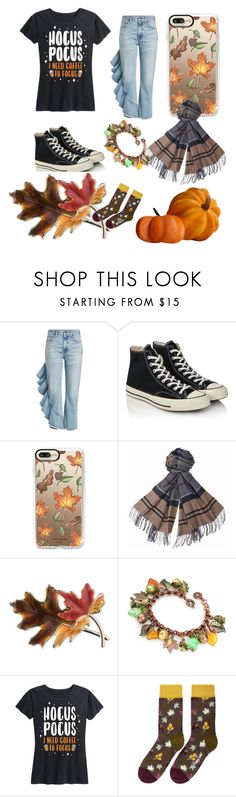 """Shelby halloween"" by findinglight on Polyvore featuring Citizens of Humanity, Converse, Casetify, Barbour, Anne Klein and Happy Socks"