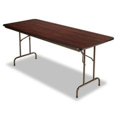 NEW - Folding Table, Rectangular, 72w x 30d x 29h, Walnut - FT727230WA