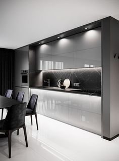 Modern Kitchen Design for 2020 – Important Factors For Choosing The Right Luxury Kitchen Design Contemporary Kitchen Cabinets, Modern Kitchen Interiors, Luxury Kitchen Design, Kitchen Room Design, Contemporary Kitchen Design, Kitchen Cabinet Design, Luxury Kitchens, Home Decor Kitchen, Interior Design Kitchen