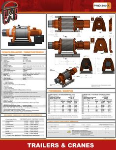 Winche, electrico para vehiculo e uso industrial hasta 4300 kg Trailers, Crane, Industrial, Shopping, Pendant, Industrial Music