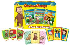 curious george games 3 Fun Card Games