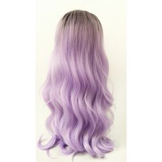 Long 25 Inch Light Purple W Dark Roots Long Wavy Wig With Heat... ($60) ❤ liked on Polyvore featuring beauty products, haircare and hair styling tools