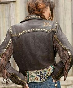 Cayuse Beaded Biker Jacket - Double D Ranchwear cowgirl-chic Style Hippie Chic, Gypsy Style, Boho Chic, Cowgirl Chic, Cowgirl Style, Cowgirl Fashion, Gypsy Cowgirl, Midwest Girls, Estilo Hippie