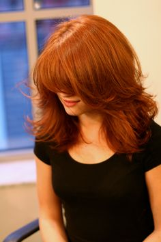 Red #Hair Color: GUS, Styling: Dana #LouisLicari #KingOfColor