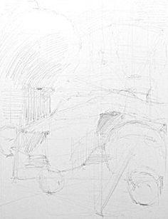 鉛筆・静物デッサン「牛骨・地球儀・フラスコ…」