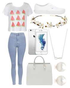 """""""Summer dreaming"""" by tigerlily789 ❤ liked on Polyvore featuring Ally Fashion, Topshop, Vans, Cult Gaia, Tiffany & Co., women's clothing, women, female, woman and misses"""