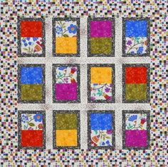 This could be made to look like your looking out a window by treating the top rectangle as a shade and find a fussy cut for the bottom. Quick & Easy Quilts | AllPeopleQuilt.com