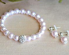 Las niñas personalizados pulseras de perlas