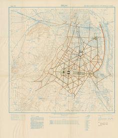 Edwin Lutyen's official master plan for the creation of New Delhi. Delhi City, Colonial Architecture, World View, New Delhi, Master Plan, City Maps, Art Google, Vintage World Maps, India