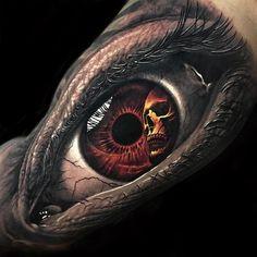 Best eye tattoo ever! Best eye tattoo ever! Hand Tattoos, Tattoo Henna, Time Tattoos, Skull Tattoos, Arm Band Tattoo, Sleeve Tattoos, Tattoos For Guys, Dragon Tattoo Designs, Tattoo Designs Men
