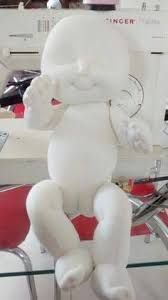Resultado de imagem para molde bebe em tecido passo a passo articulado