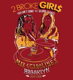 2 Broke Girls illustration