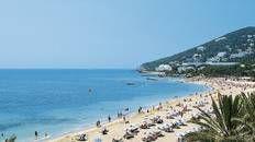 Live it up on Santa Eulalia Beach #Ibiza
