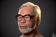 """""""Realtime character WIP :Hayao Miyazaki モデルに毛髪追加。毛がないと宮崎駿とわからんな。 あとは皮膚と毛の調整をやってく。 UE4にも持ってく予定。 #Toolbag3 #Zbrush #SubstancePainter"""""""