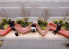 mobile Parklet Bench by WMB Studio