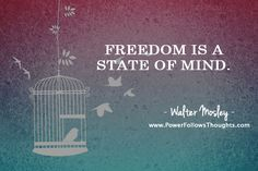 Freedom is a state of mind.  – Walter Mosley