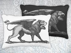 THANK you! I just sold this #griffin #pillow #mythology #homedecor #blackandwhite #goth #interiorstyle #lion #eagle #creature