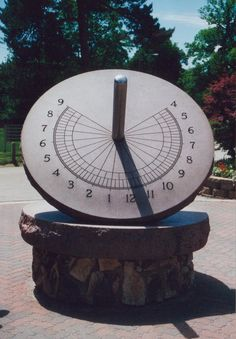 Sun dial at Henry Doorly Zoo in Omaha, NE.