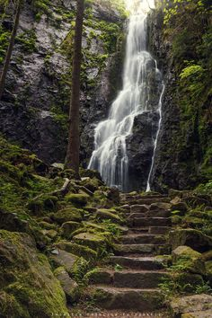 Photograph Burgbach Waterfalls by Thorsten Fröhlich on 500px