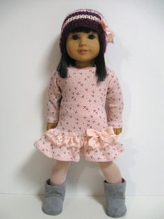 American girl doll-clothes outfit girly girl by Mulberry