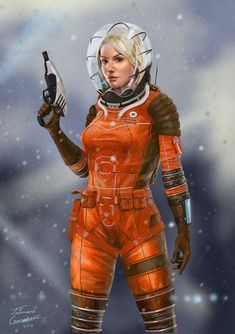 Space Girl, Jahmani Campbell on ArtStation at http://www.artstation.com/artwork/space-girl-f0af5e48-2e01-47a0-b658-8fecca392ded